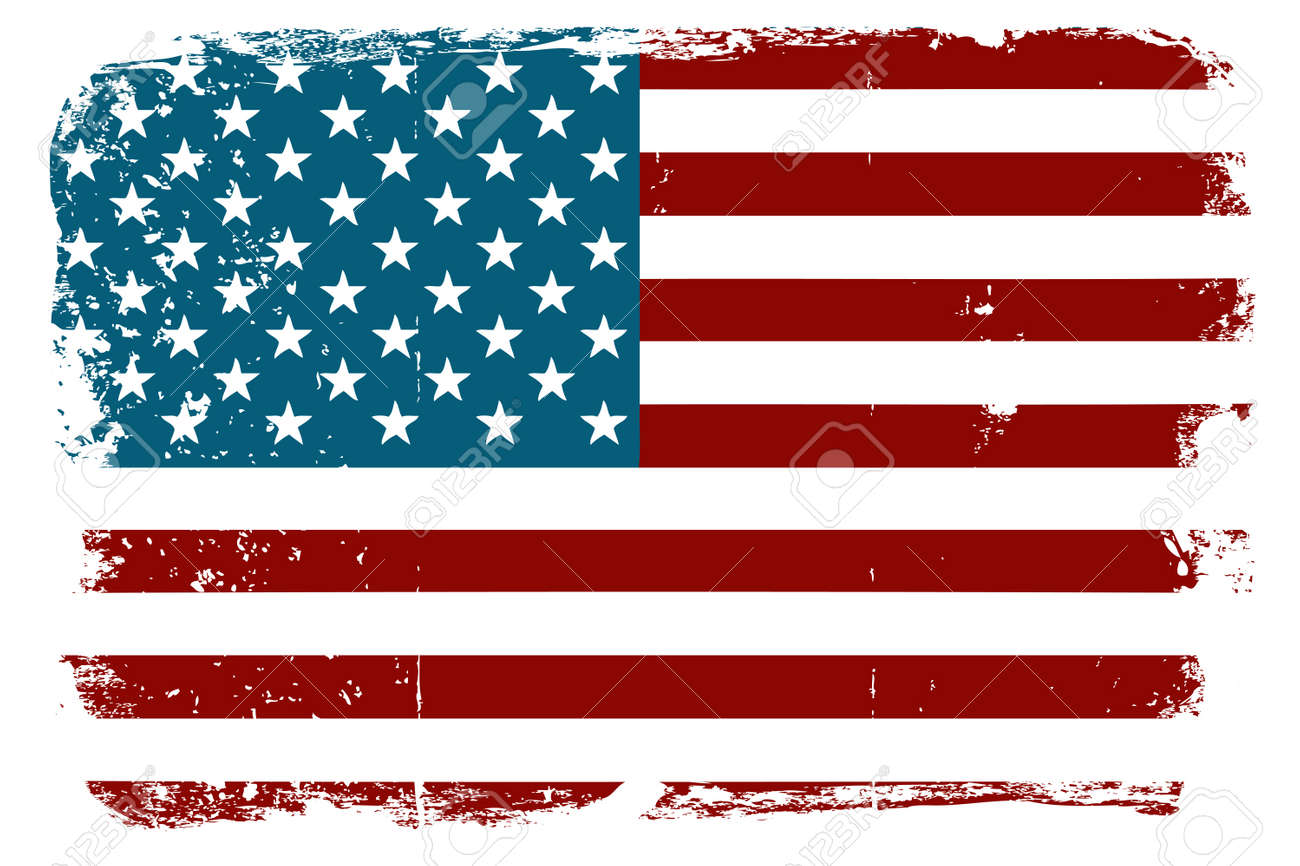vintage american flag royalty free cliparts vectors and stock rh 123rf com american flag vector image american flag vector waving