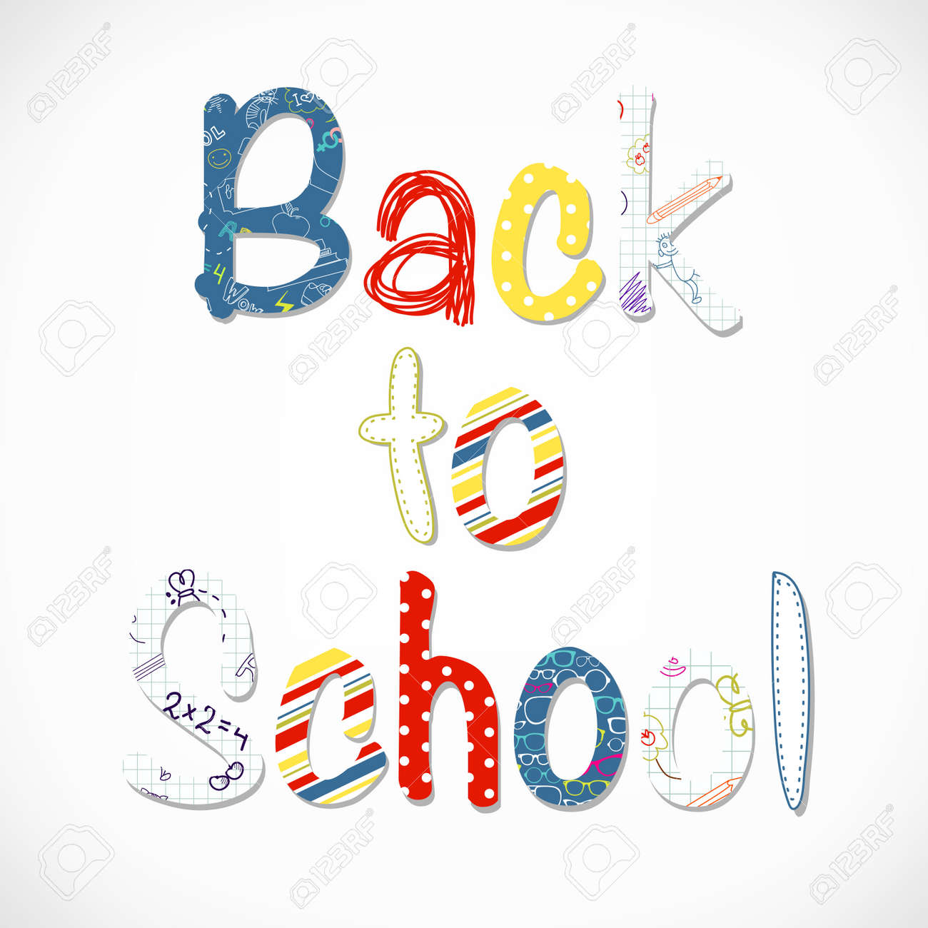 Back to school lettering Stock Vector - 15158617