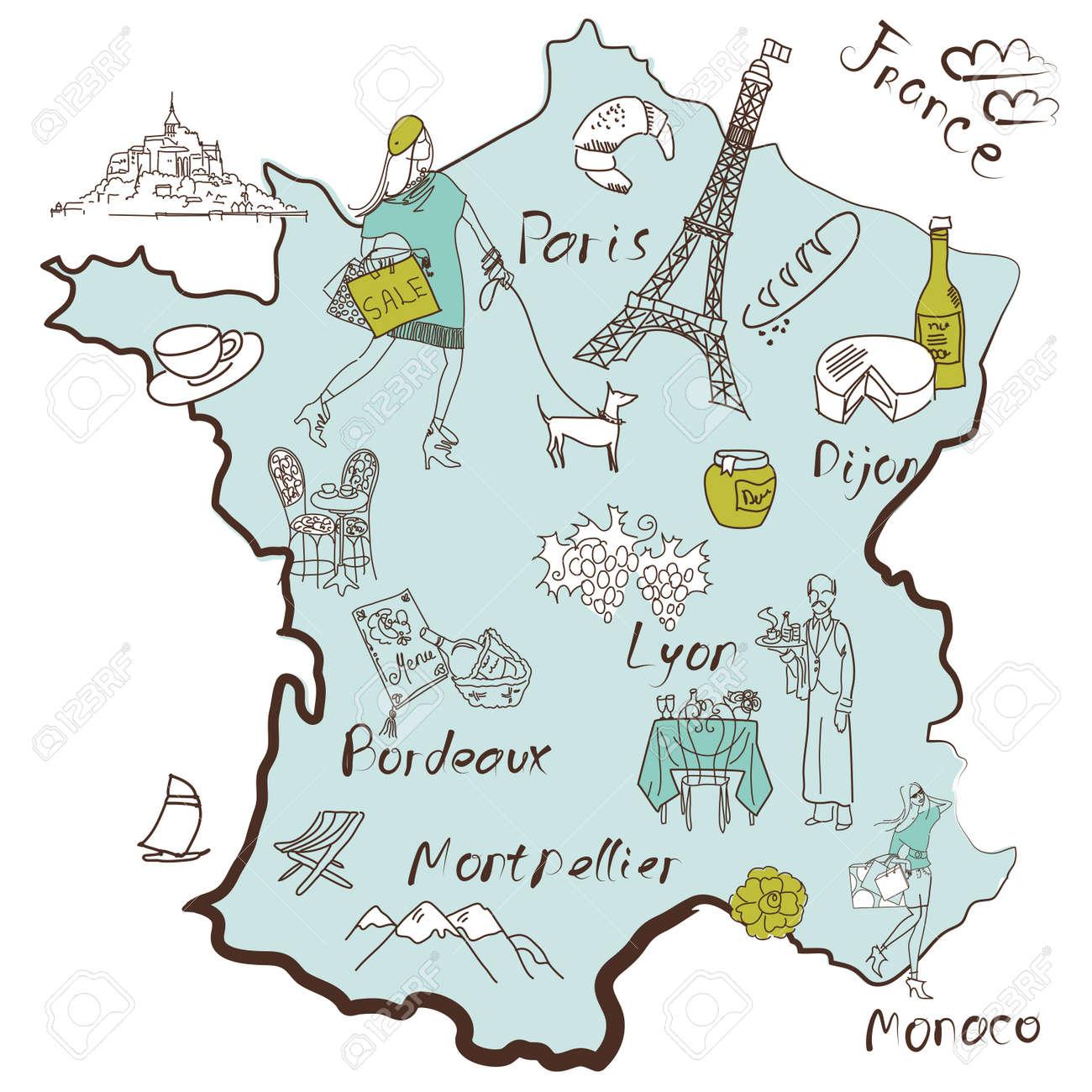 Frankreich karte regionen