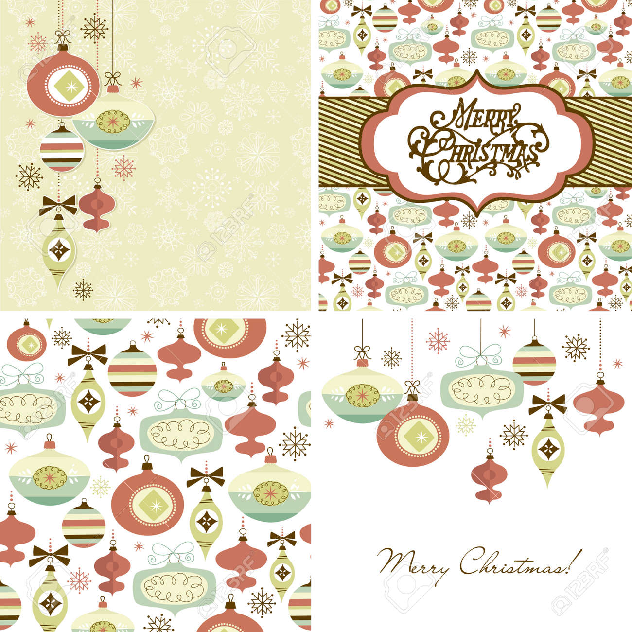 Set of Christmas Retro backgrounds Stock Vector - 16681270