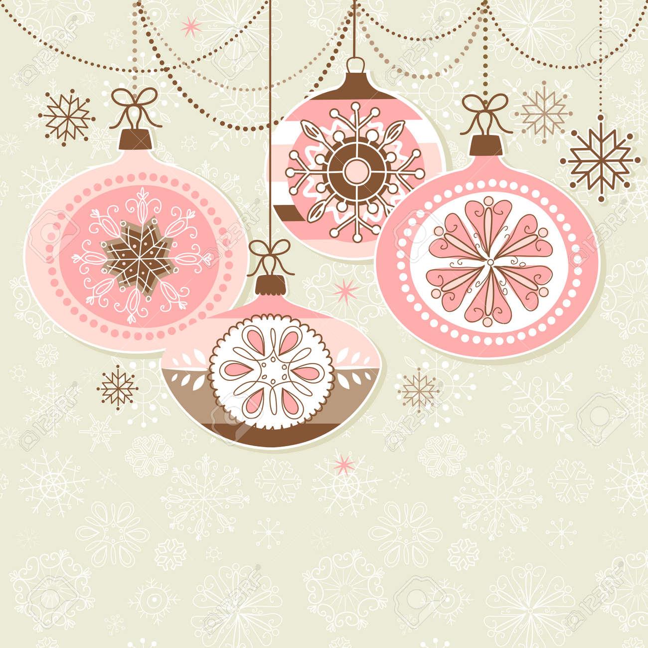 Retro Christmas Ornaments Stock Vector - 16681249