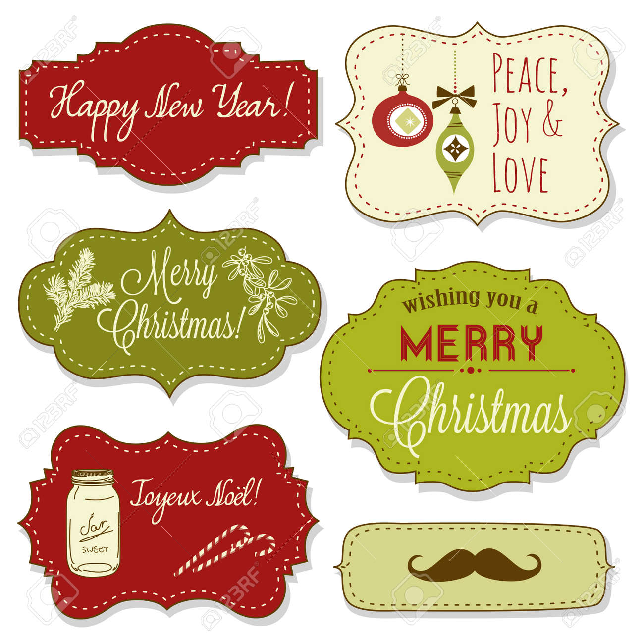 Vintage Christmas Frames Stock Vector - 16681008