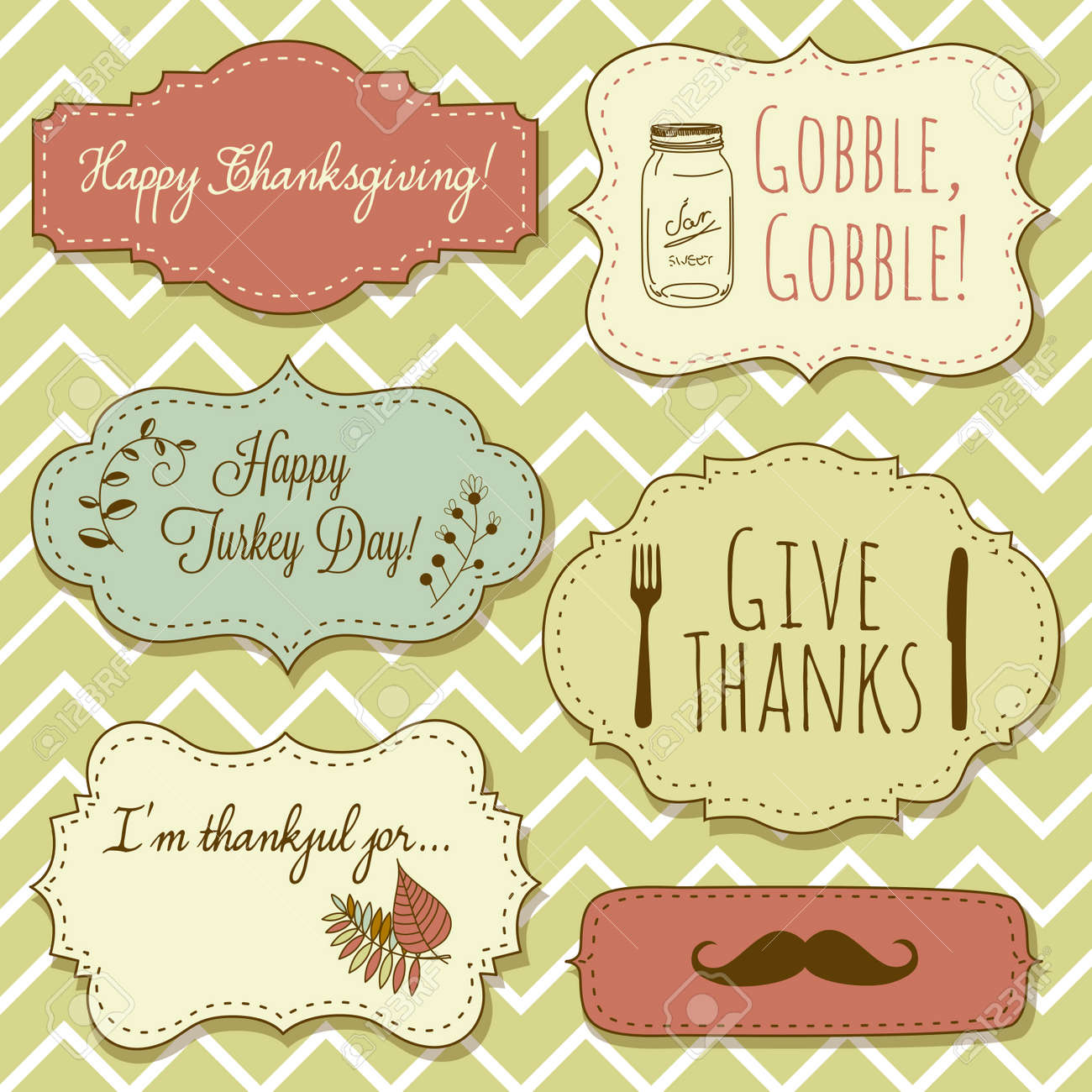 Happy Thanksgiving Frames Royalty Free Cliparts, Vectors, And Stock ...