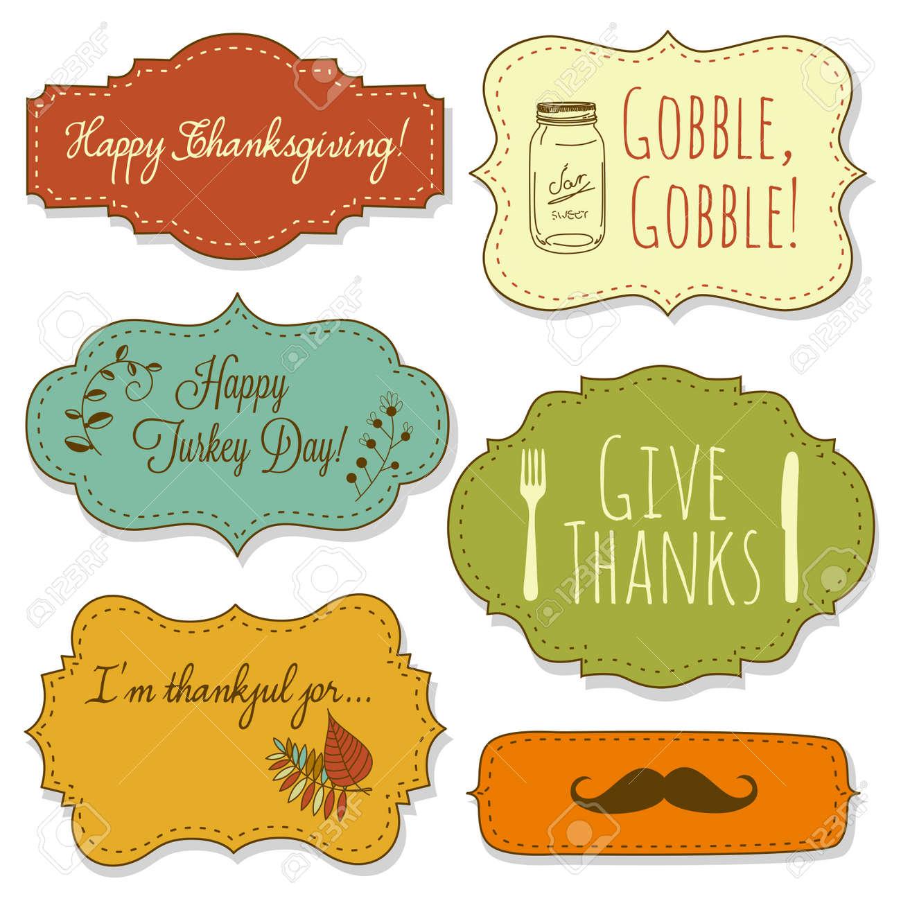 Happy Thanksgiving frames Stock Vector - 16680995