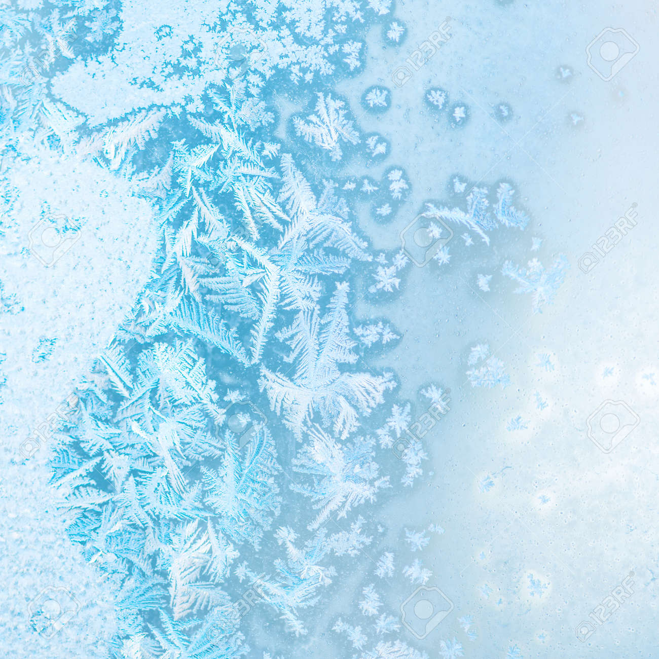 abstract winter ice texture on window, festive background, close up - 51268854