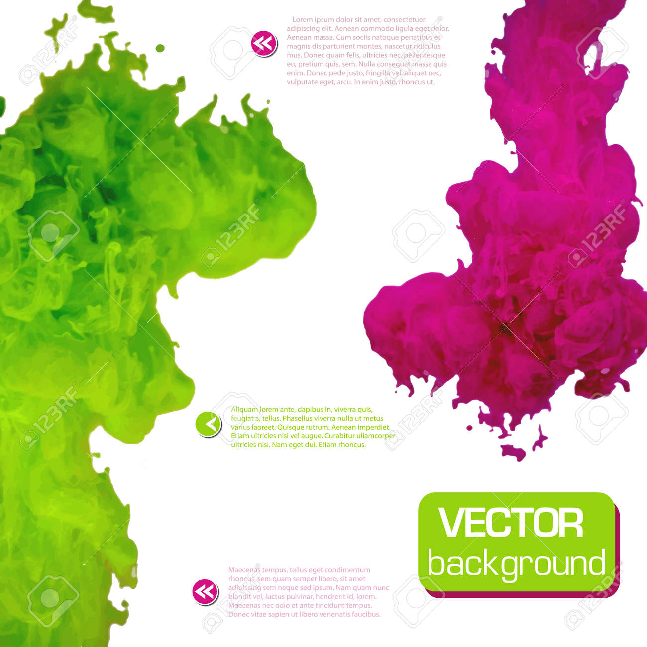 Vector ink swirling in water. Background vector illustration - 31190678