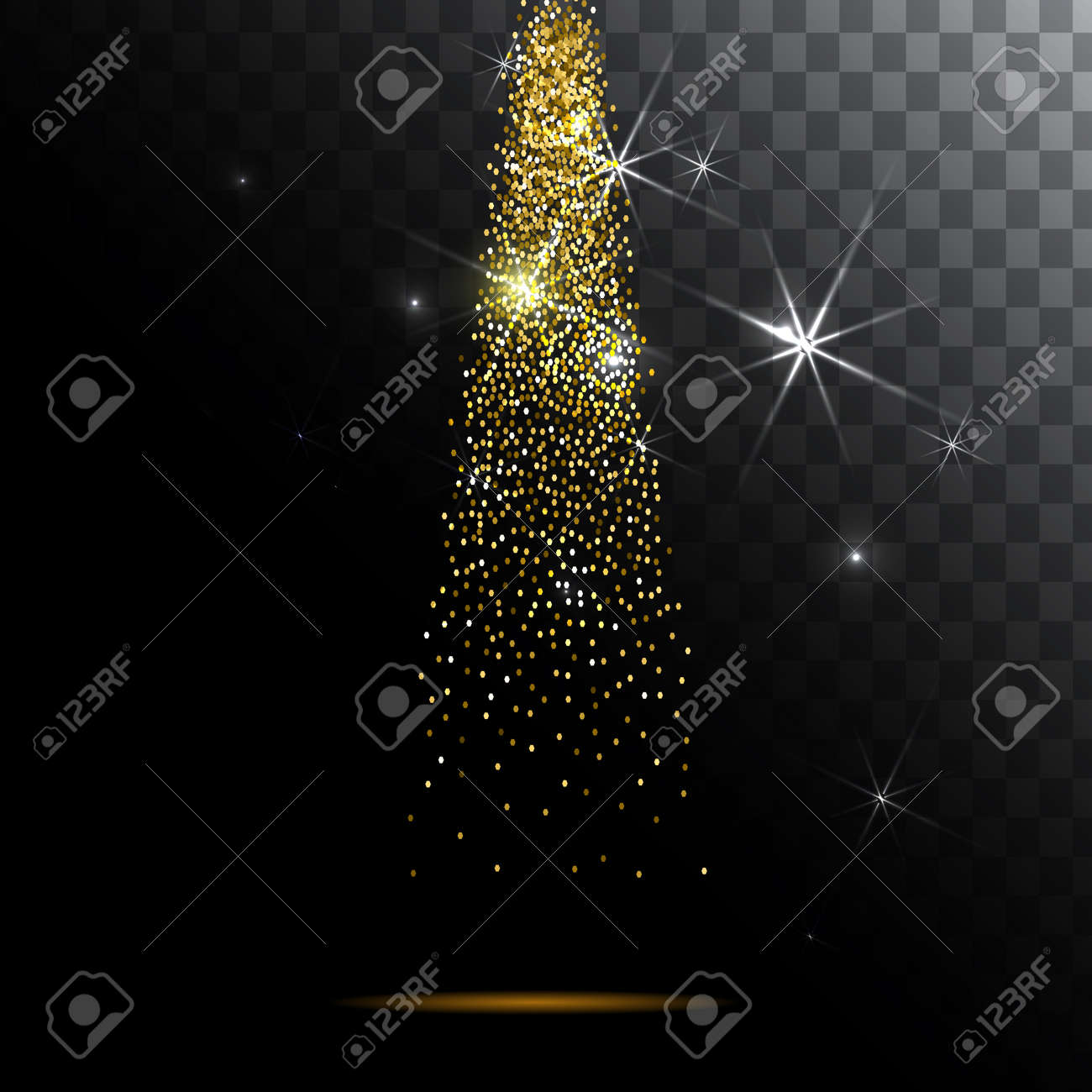 Abstract light background. Magic light with gold glitter burst. - 59113303