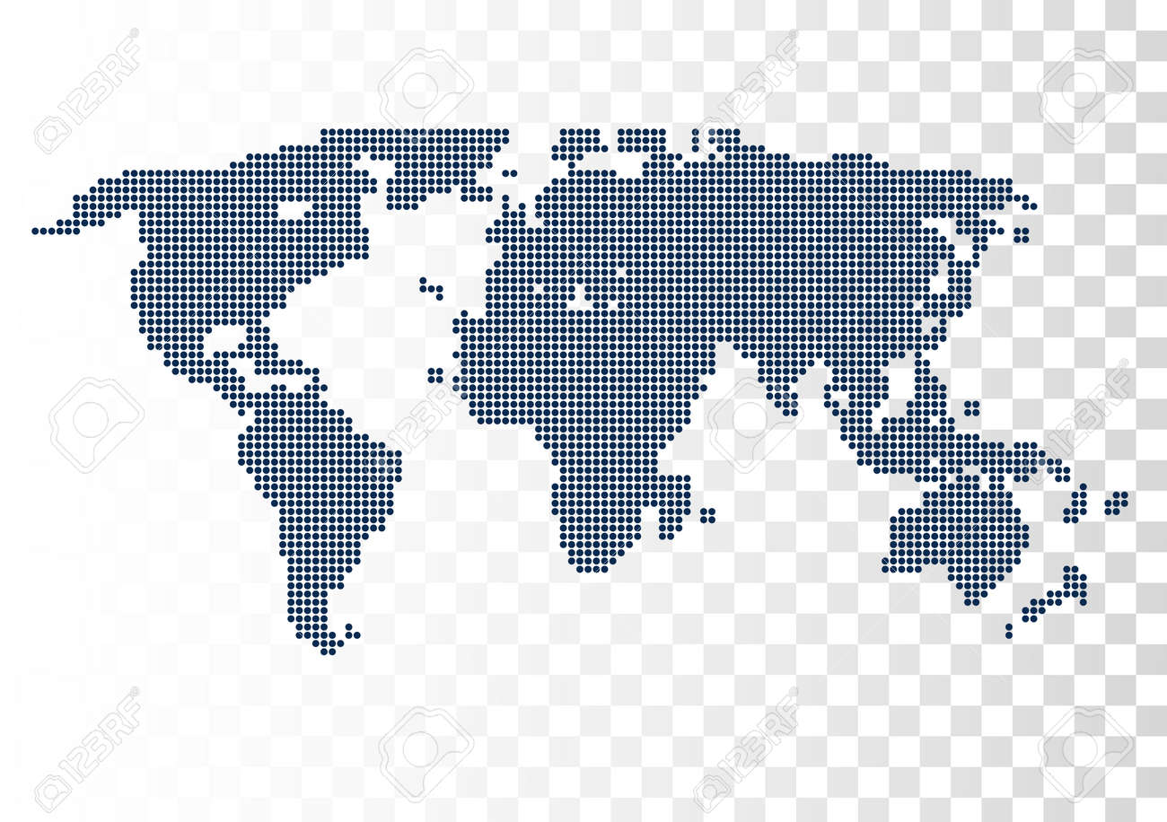 Vector halftone world map continents for your design royalty free vector halftone world map continents for your design stock vector 59957173 gumiabroncs Images