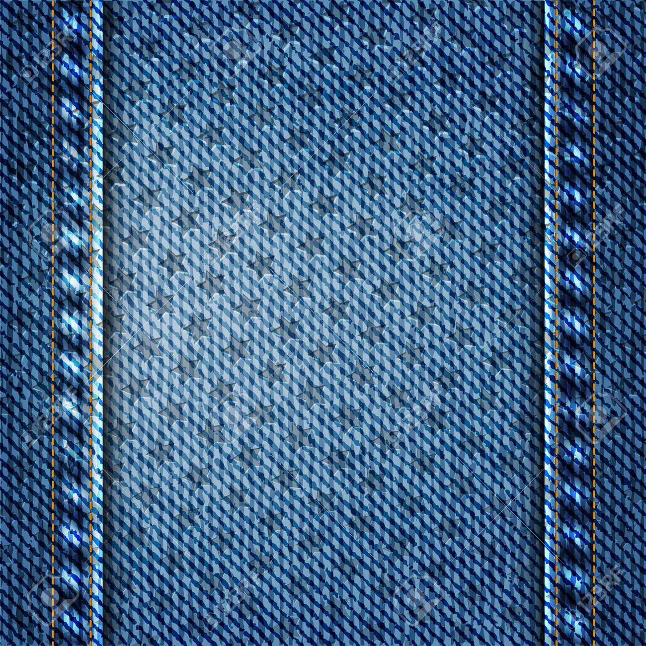d57dce885 Textura de la mezclilla azul con la ilustración de estrellas de vectores de  fondo.