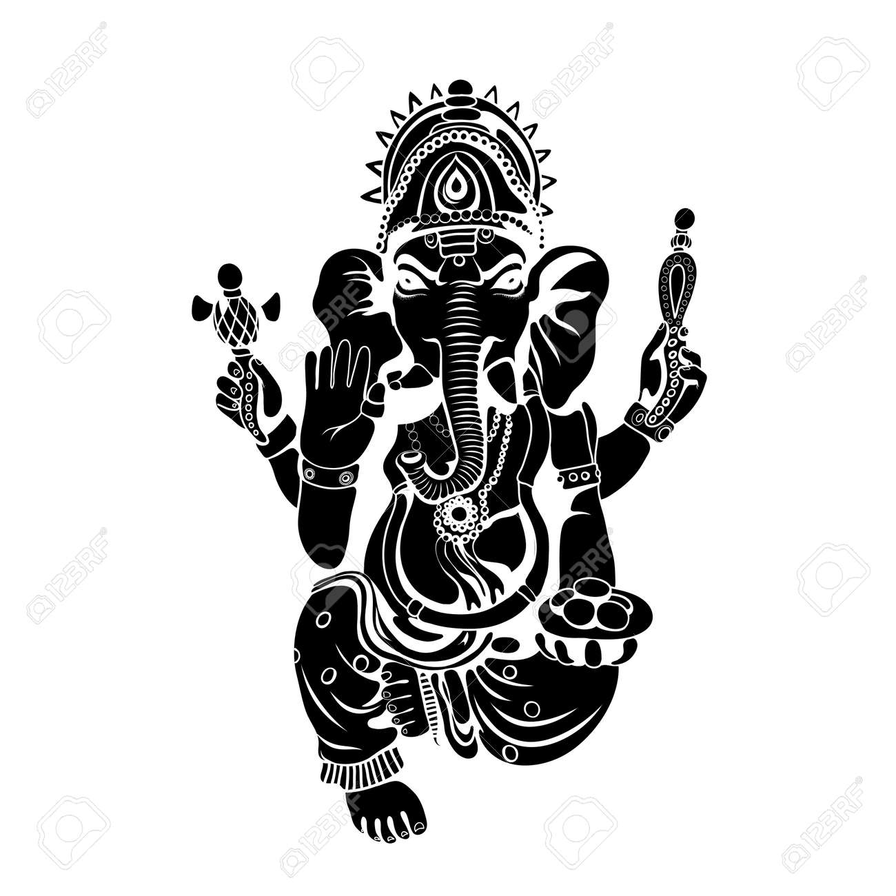 Lord ganesha sketch on a background vector stock vector 70882747