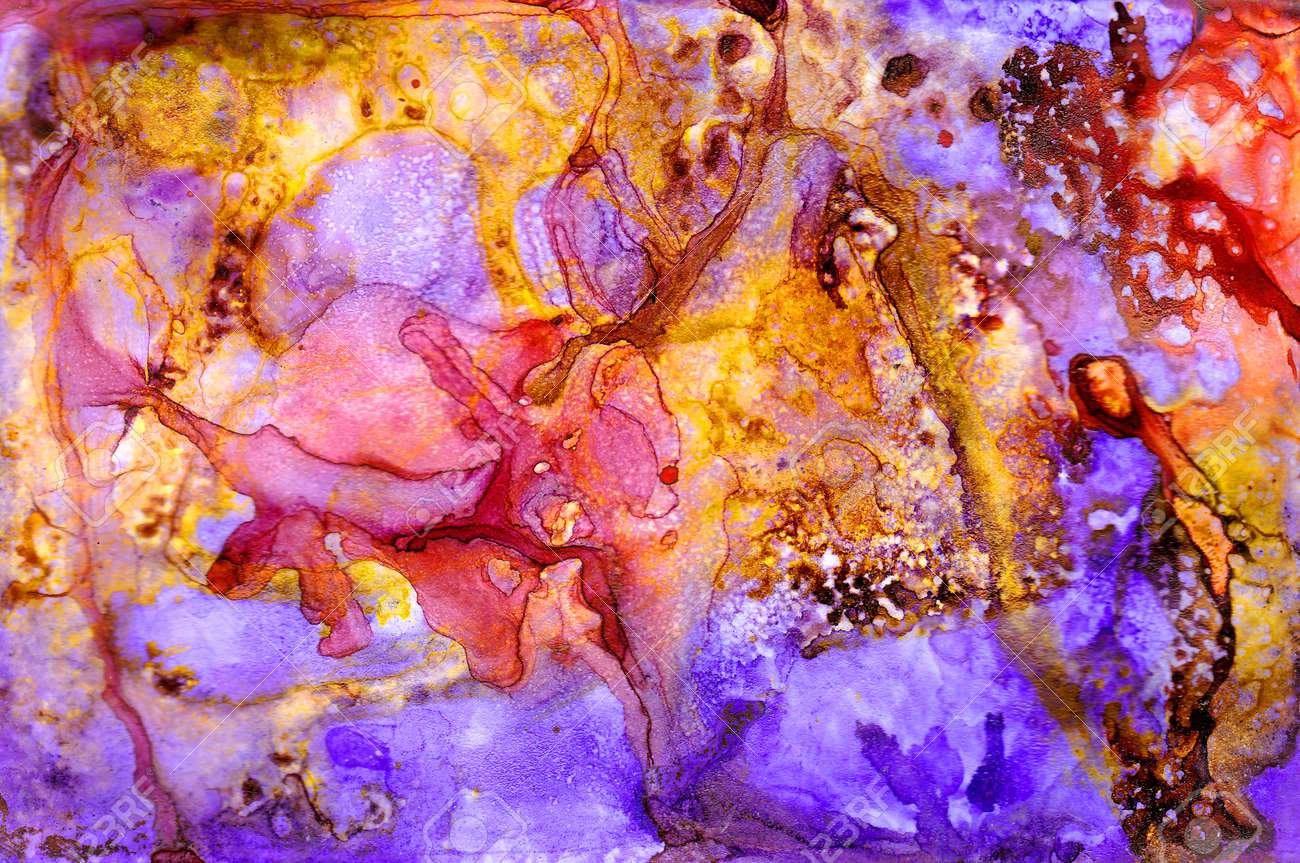 Alcohol ink texture. Fluid ink abstract background. art for design - 98961543