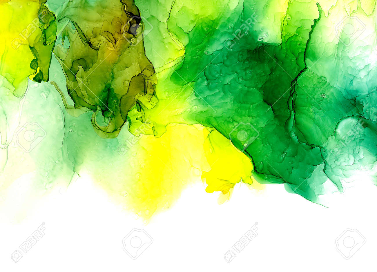 Alcohol ink texture. Fluid ink abstract background. art for design - 112039710