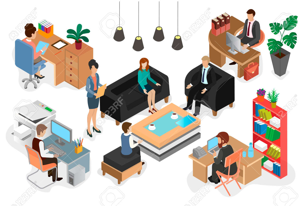 Office Staff At Work Royalty Free Cliparts Vectors And Stock Illustration Image 87275323