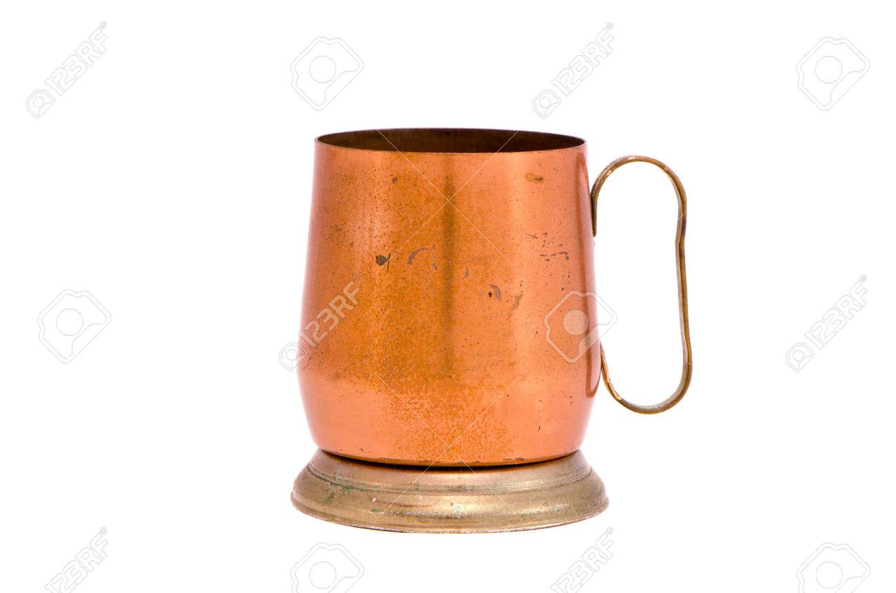isolated on white copper mug souvenir - 12442304