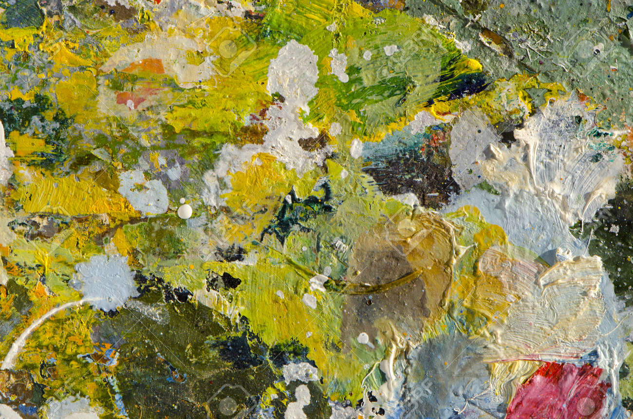 colorful painters palette fragment background - 12759312