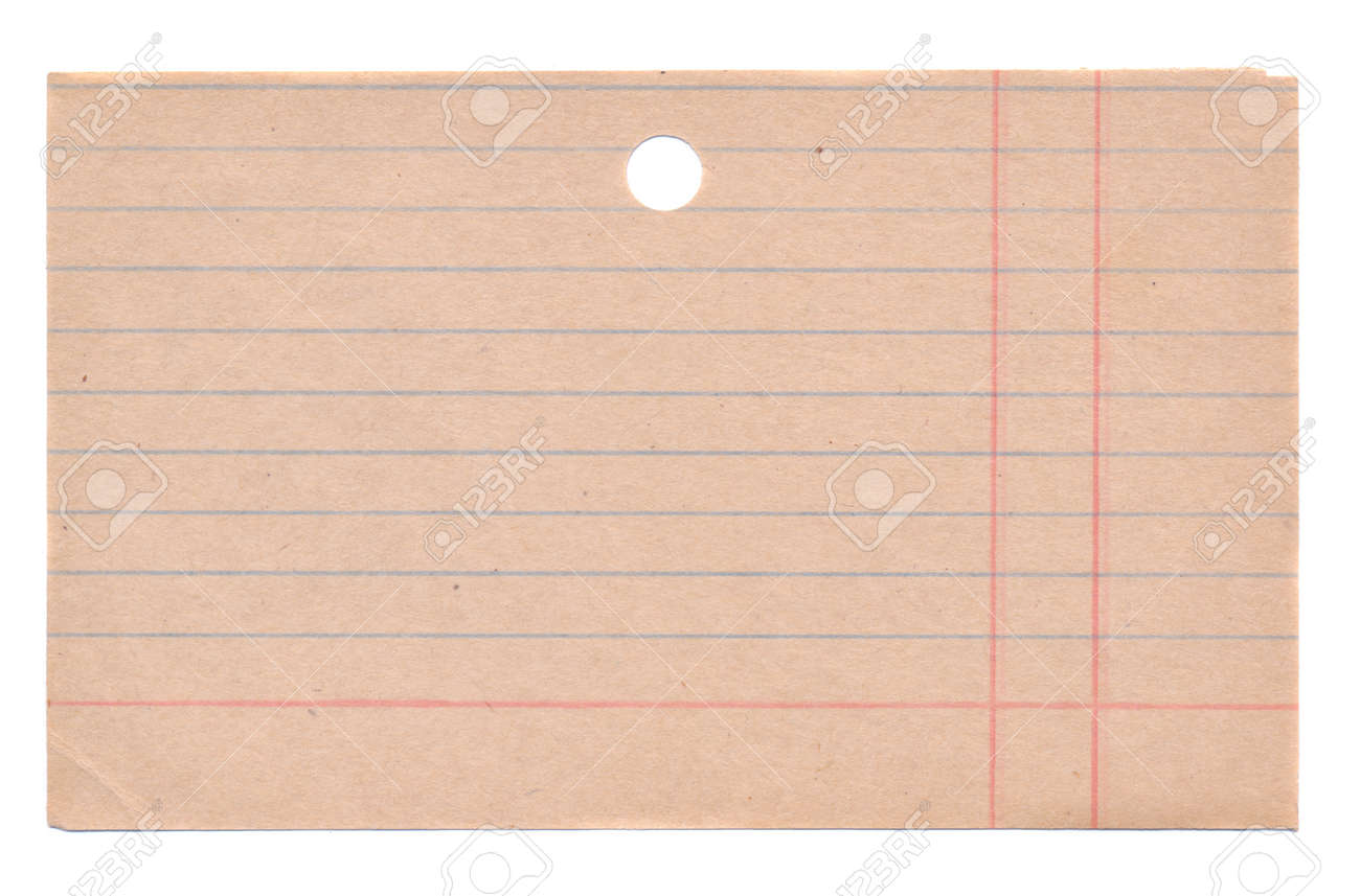 isolated on white old library boks file-cabinet card - 13129661
