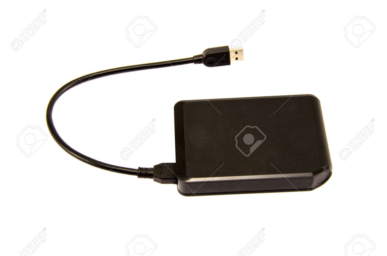 External hard drive with usb port isolated on white background Stock Photo - 16683940