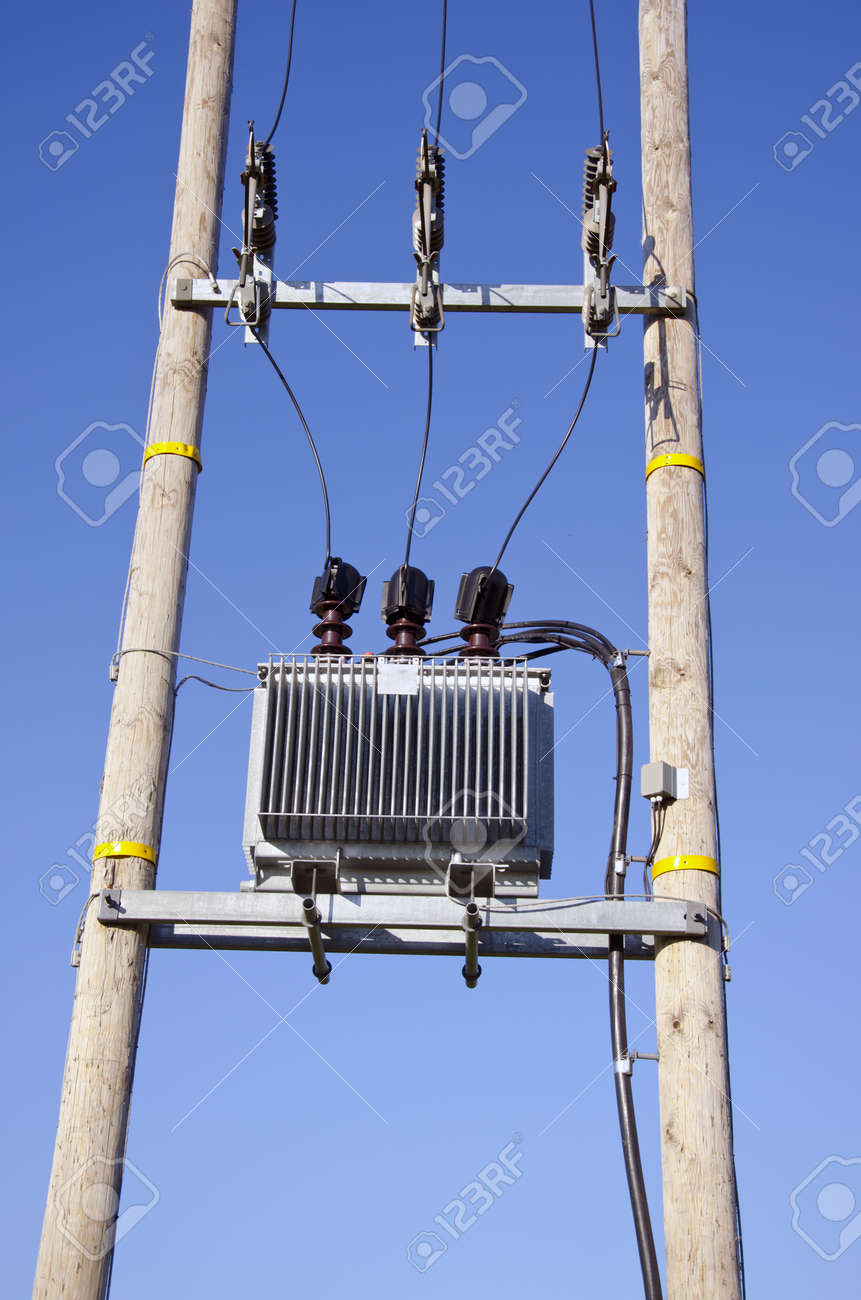 Electric Utility Pole Transformers Excellent Electrical Wiring Schematics Of Wooden With Power Lines And Transformer On Sky Rh 123rf Com Schematic Mounted Sizes