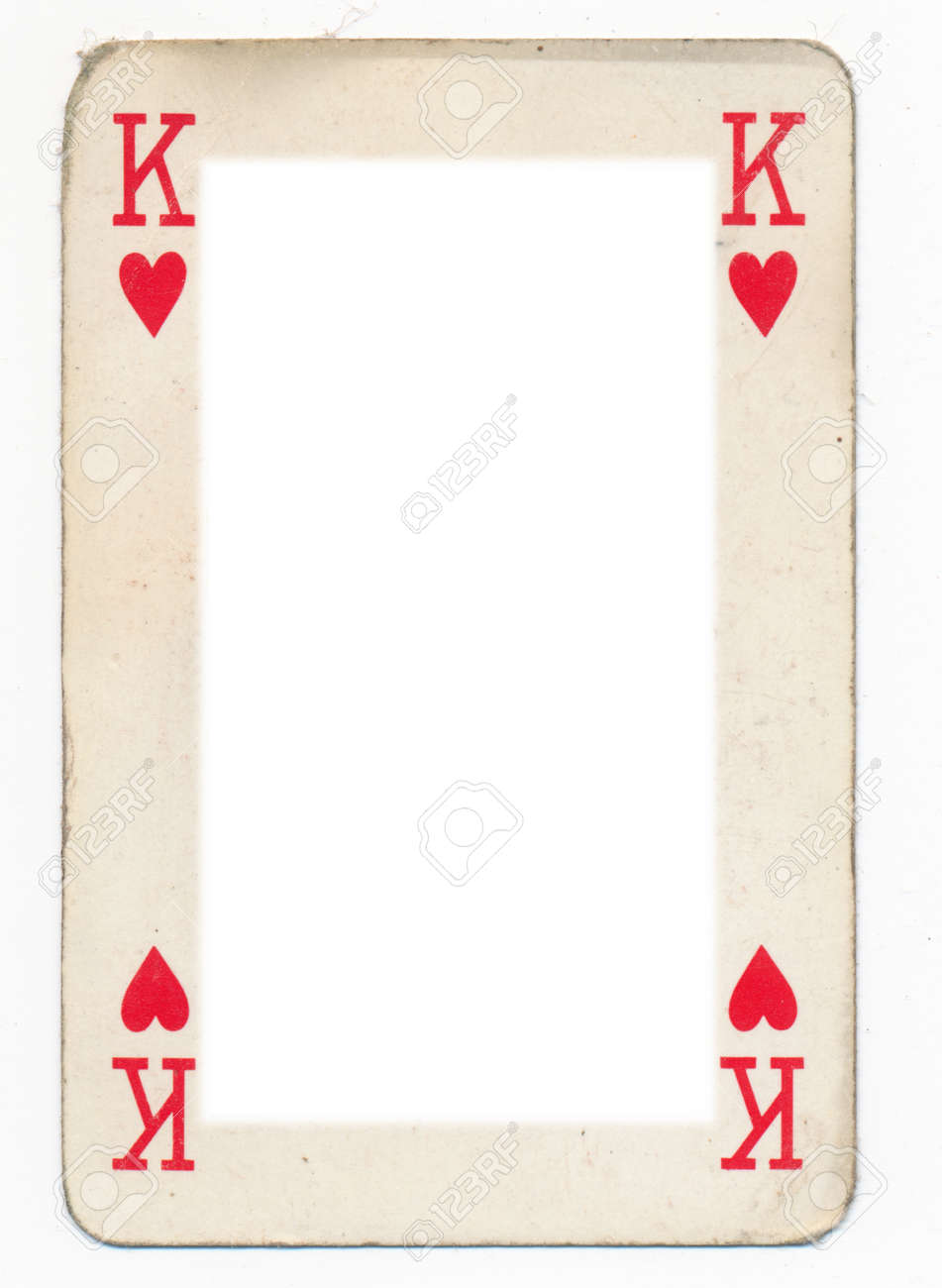 Frame From Old King Of Heart Playing Card. Isolated Stock Photo ...