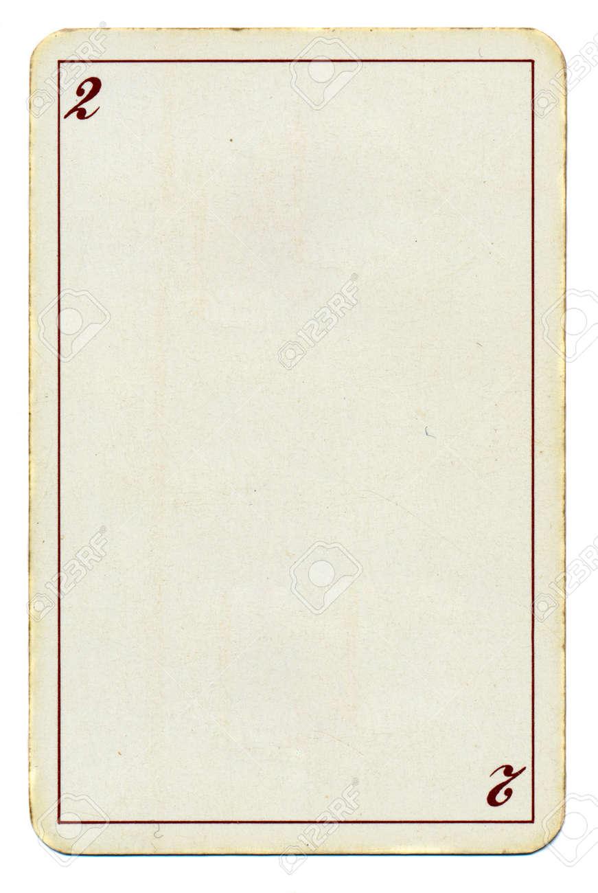 Leere Spielkarte-Papier Hintergrund Mit Platz Zwei 2 Und Linie ...
