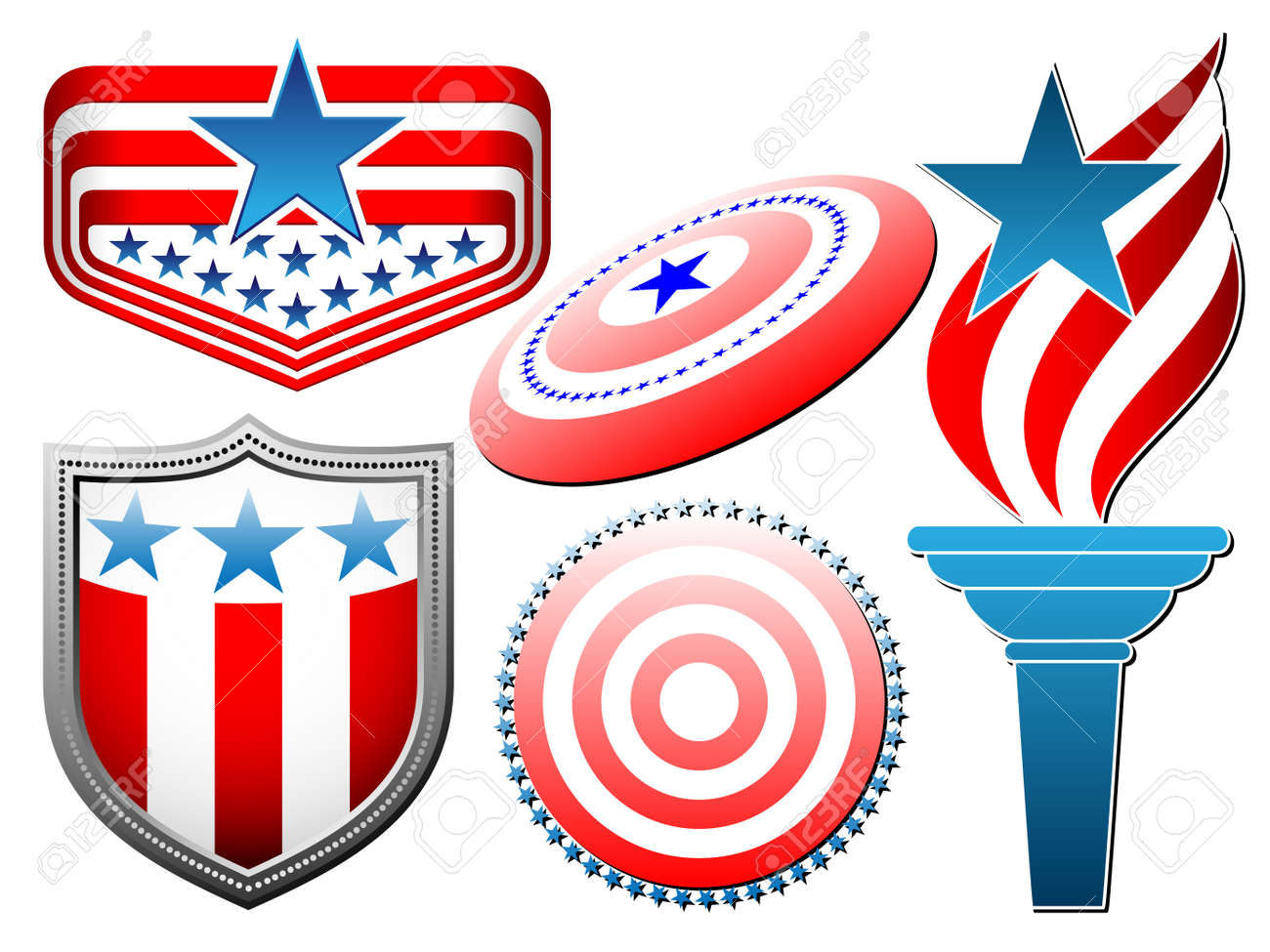 american symbolics set Stock Vector - 13543572