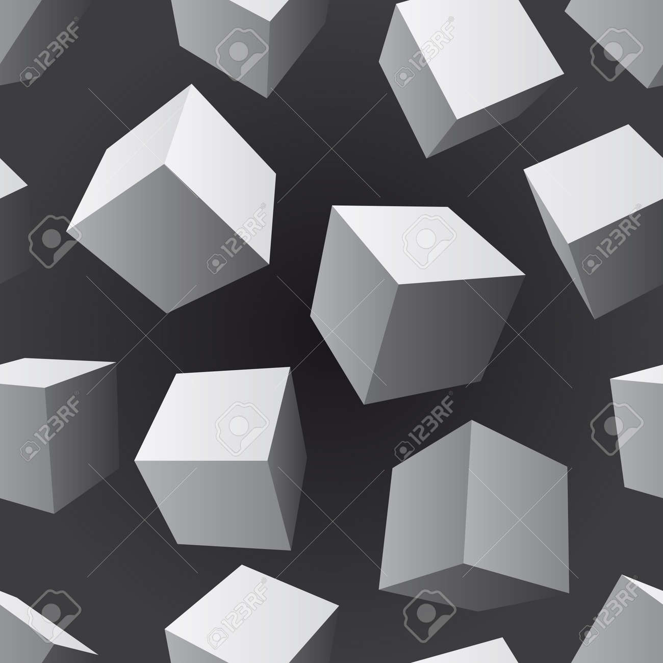 floating cubes seamless pattern Stock Vector - 15239024