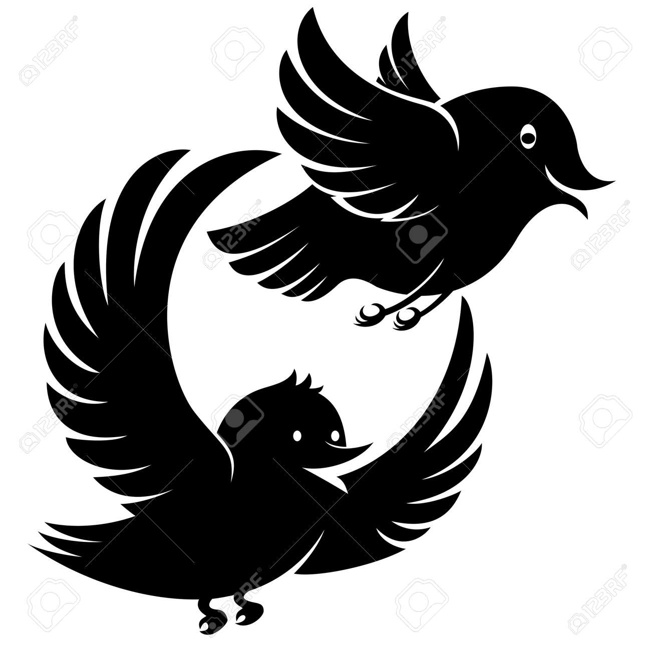 flying bird icons Stock Vector - 17417900