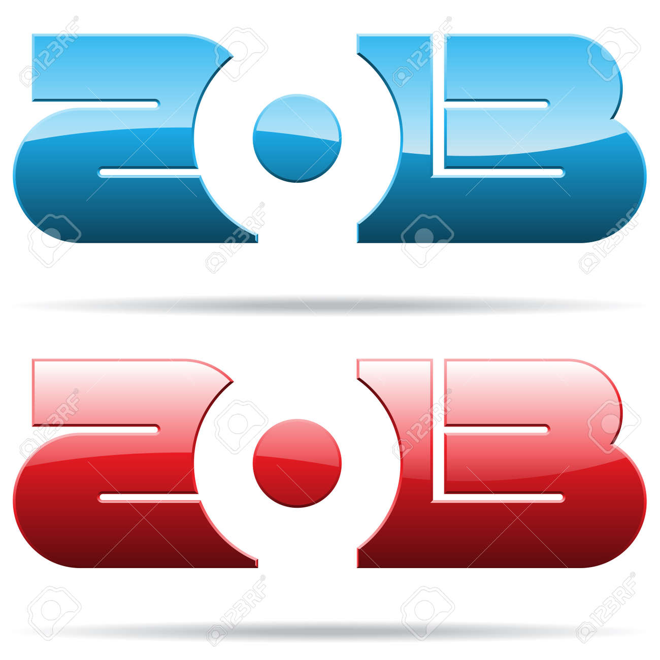 metallic 2013 year number Stock Vector - 17416405
