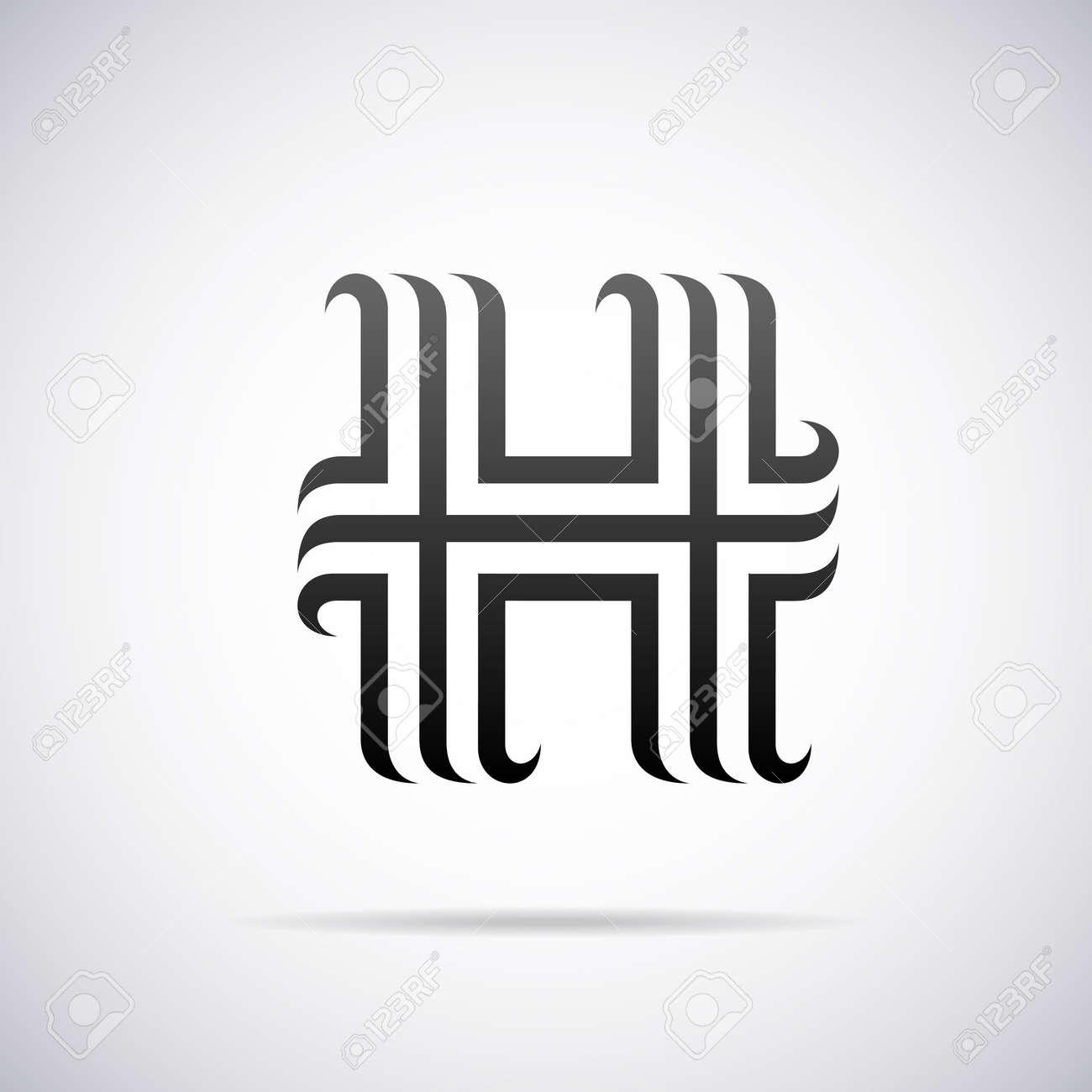 Letter h design template vector illustration royalty free cliparts letter h design template vector illustration stock vector 40296100 pronofoot35fo Gallery