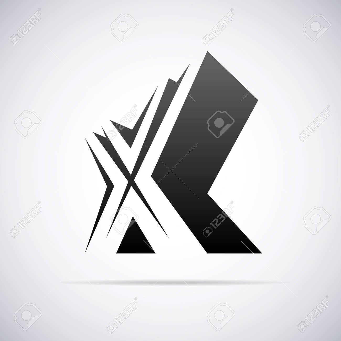 Logo De Letra X Plantilla De Diseño Ilustración Vectorial ...