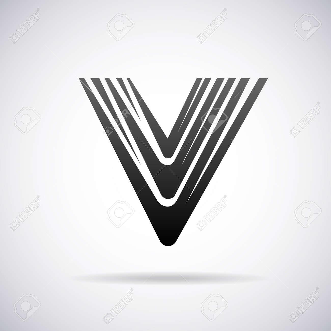 letter v design template vector illustration royalty free cliparts