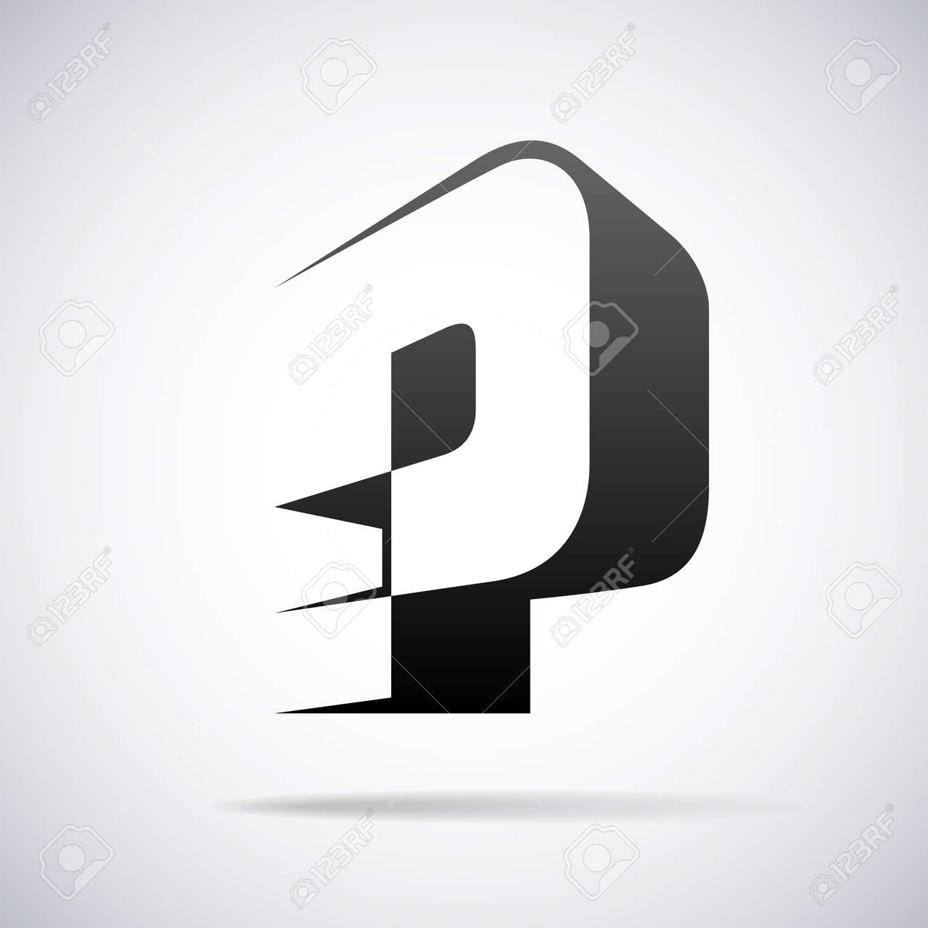 Letter P Design Template Vector Illustration Royalty Free Cliparts