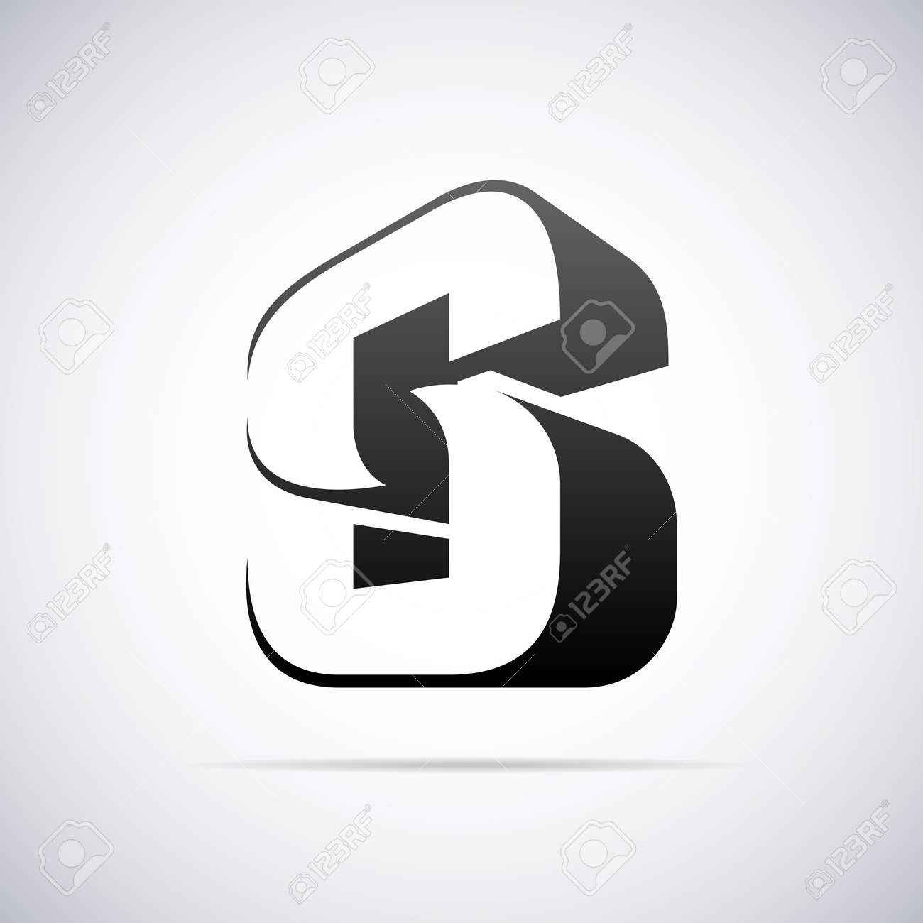 Letter S Design Template Vector Illustration Royalty Free Cliparts