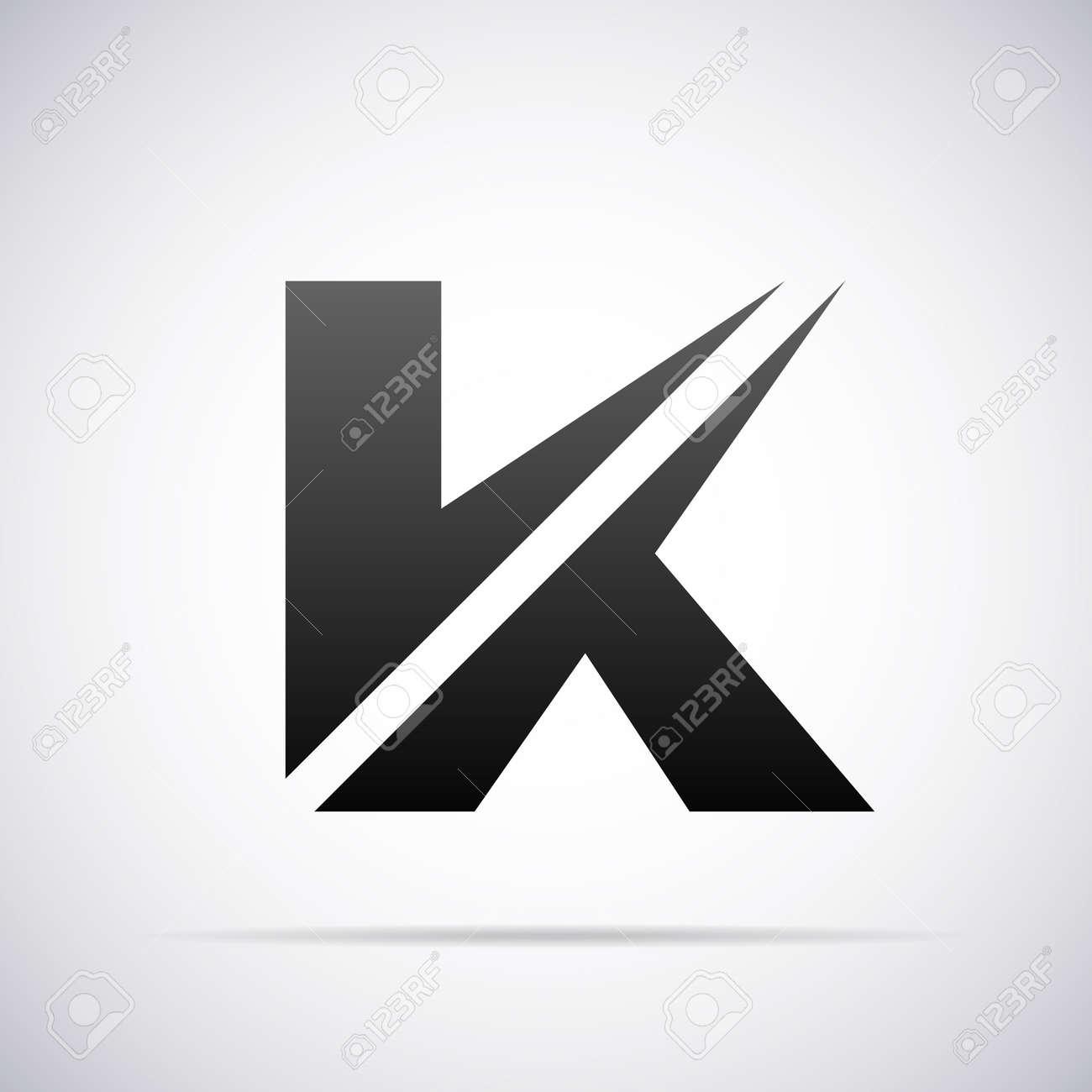Lettre K conception vecteur modèle illustration