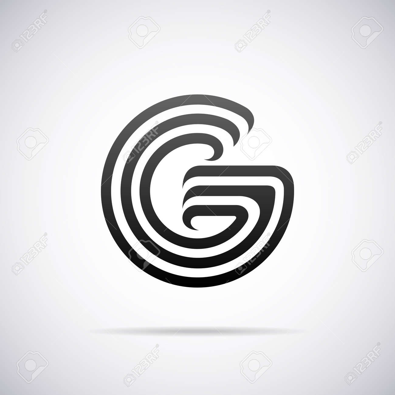 Letter G Design Template Vector Illustration Royalty Free Cliparts