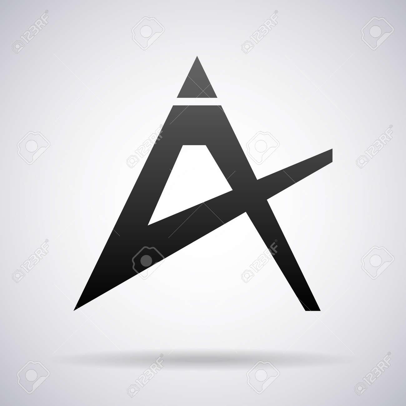 Logotipo De La Letra A De Diseño De Plantilla Ilustración Vectorial ...