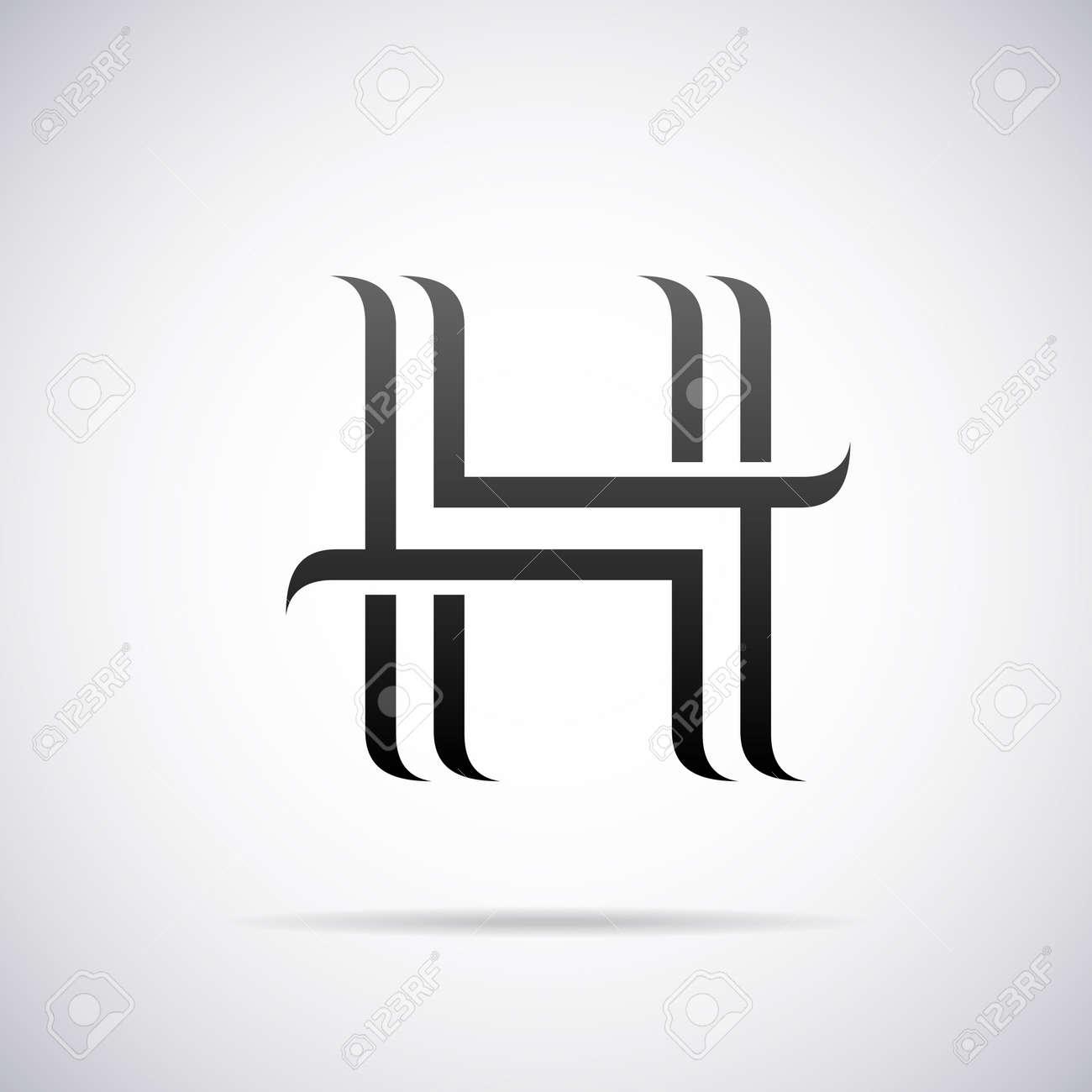 Logo For Letter H Design Template Vector Illustration