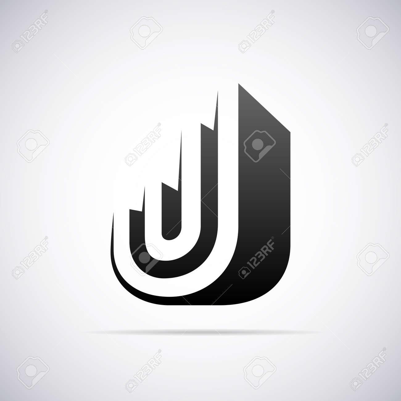 logo for letter j design template vector