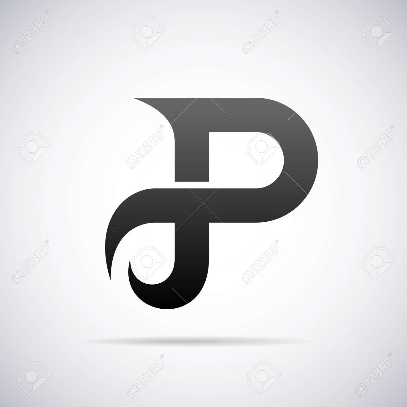 letter p design template vector illustration stock vector 40342735