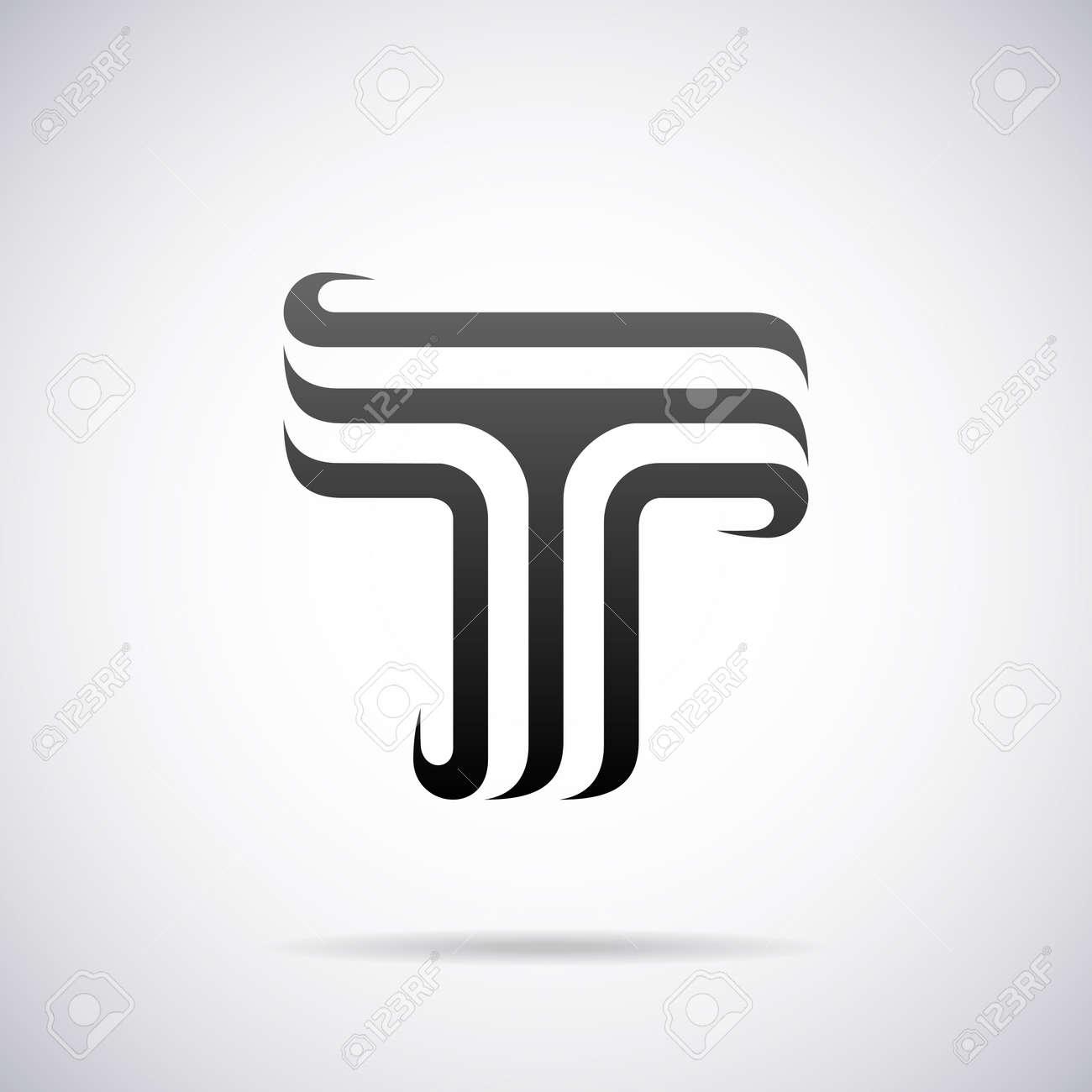 Letter T Design Template Vector Illustration Stock