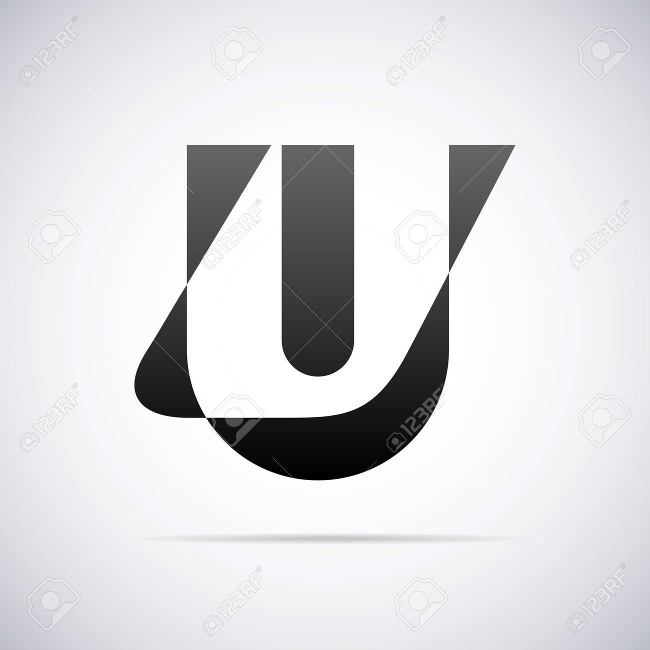 Letter U Design Template Vector Illustration Royalty Free Cliparts