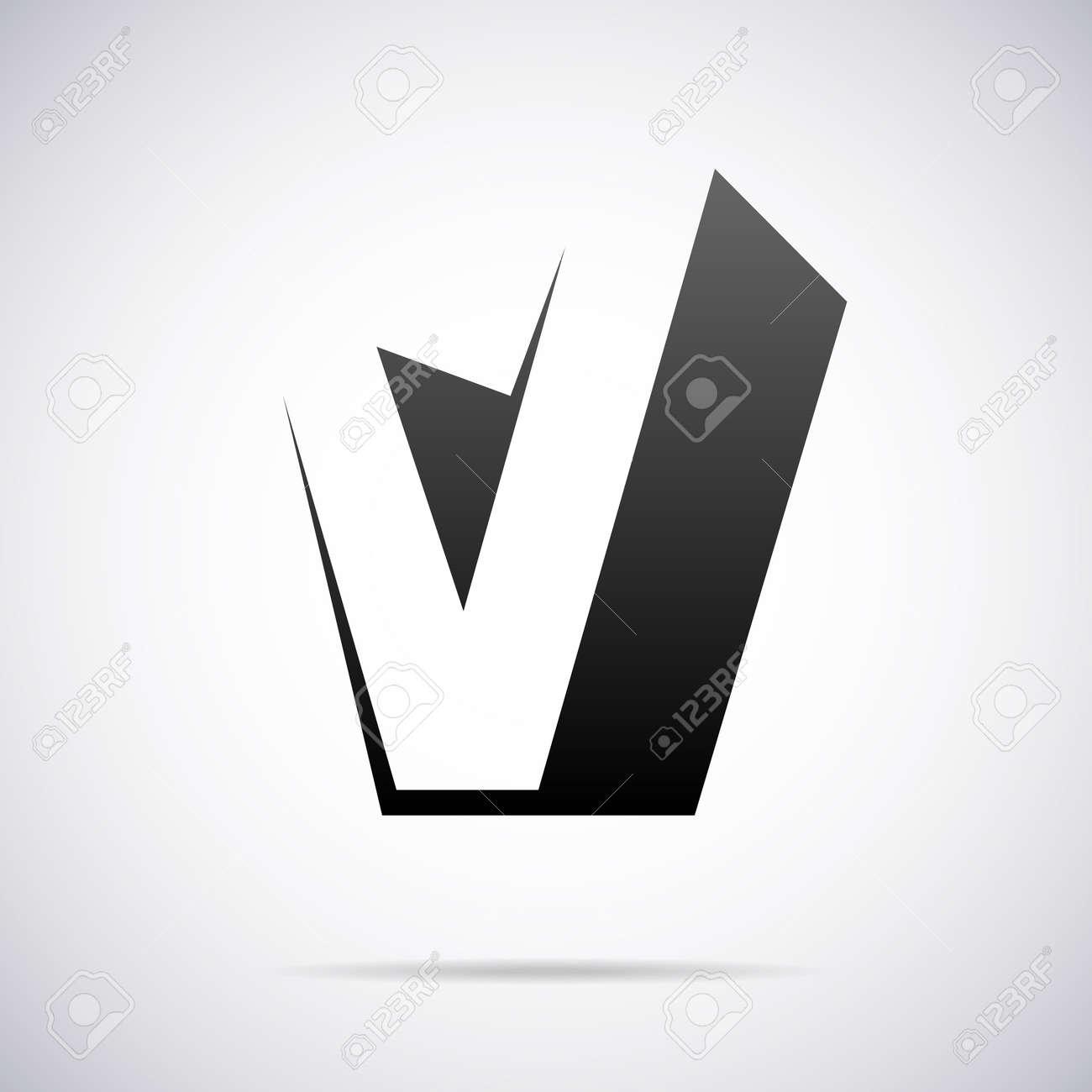 v design Letter V Design Template Vector Illustration Royalty Free Cliparts  v design