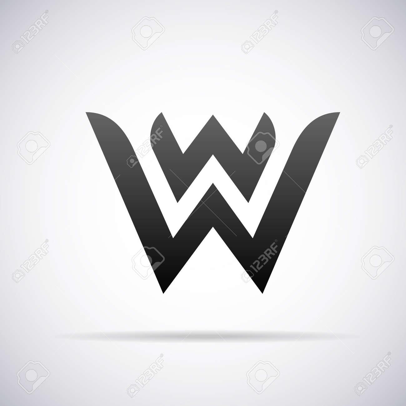 Logo For Letter W Design Template Vector Illustration Royalty Free