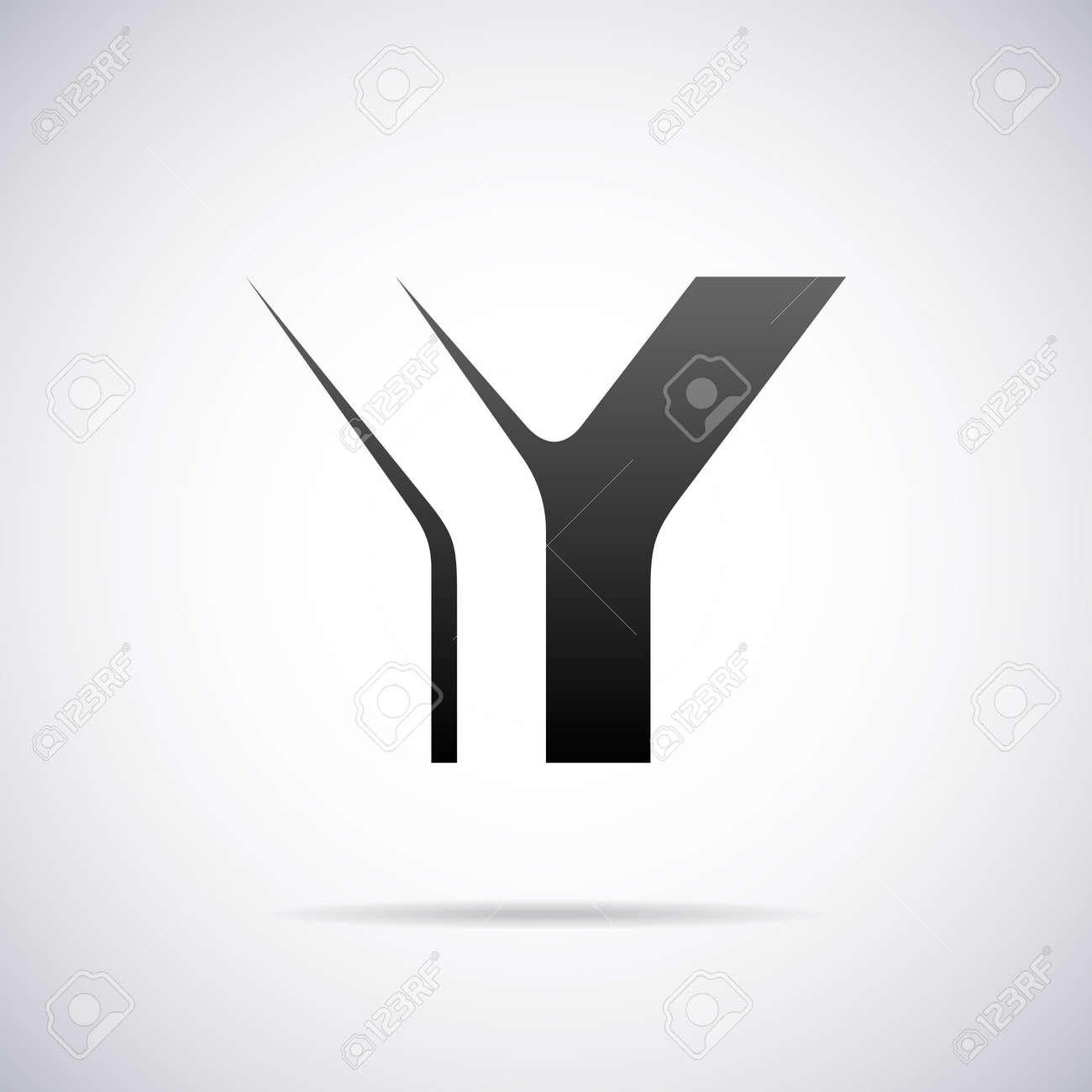 Letter Y Design Template Vector Illustration Royalty Free Cliparts