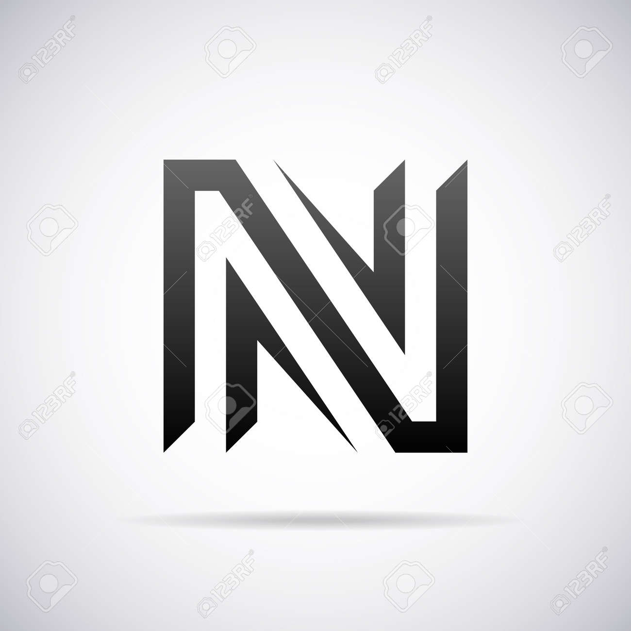 Letter N Design Template Vector Illustration Royalty Free Cliparts
