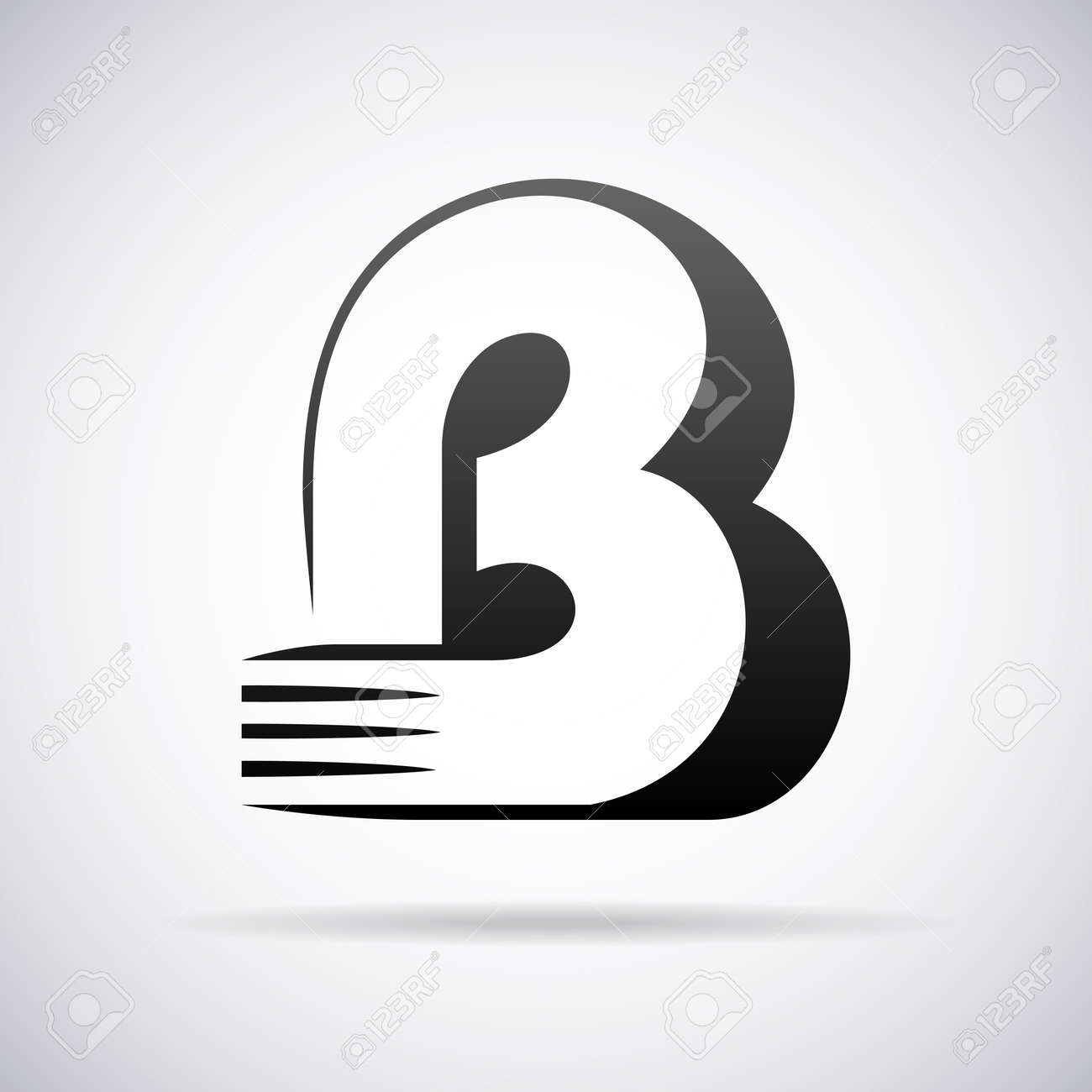 logo for letter b design template vector illustration stock vector 43081120