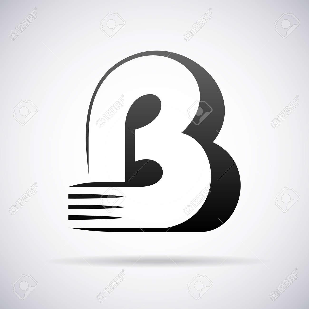 logo for letter b design template vector illustration stock vector 43081120