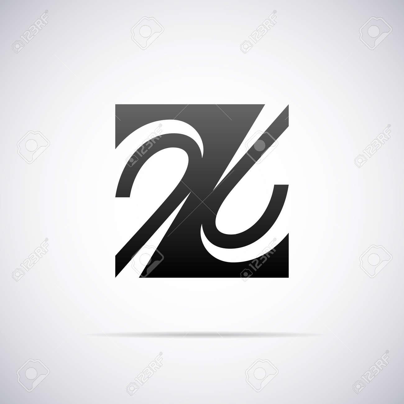 Logo For Letter Z Design Template Vector Illustration Stock