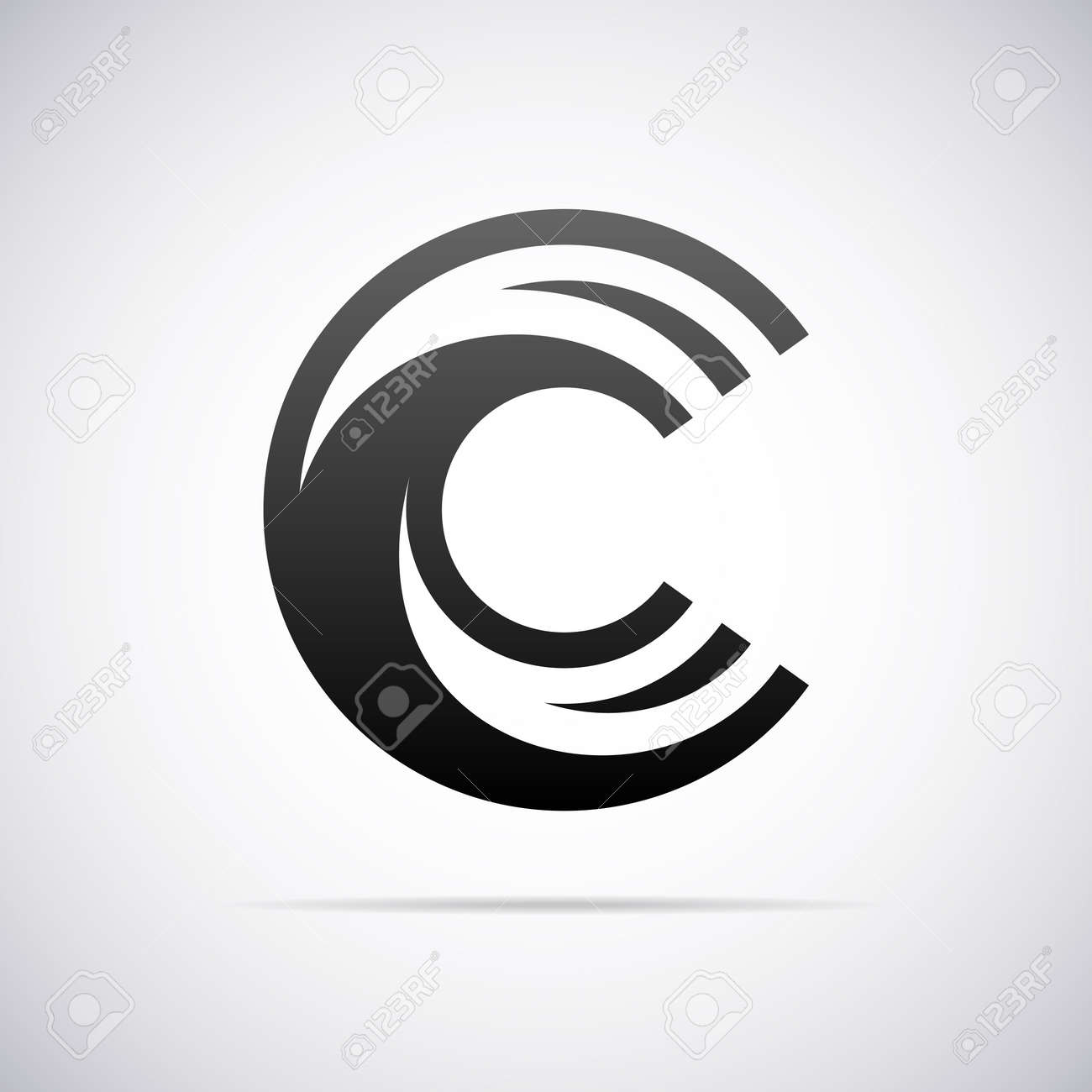 Logo Pour La Lettre C Modèle De Conception Illustration Vectorielle ...