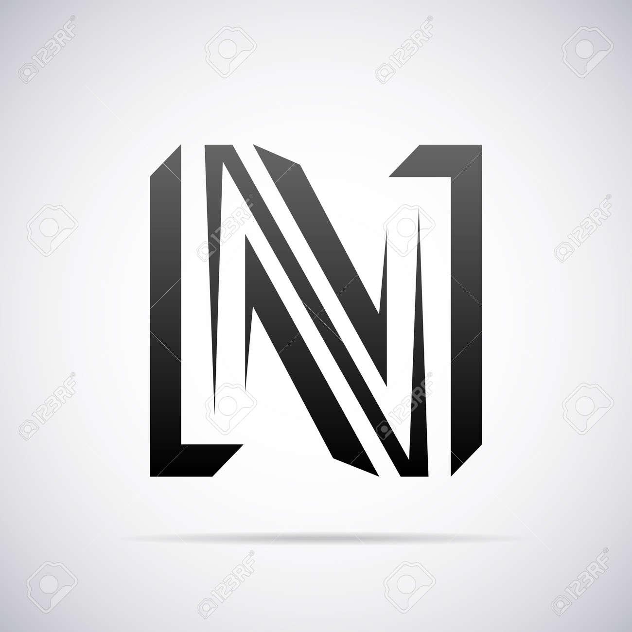 Logo For Letter N Design Template Vector Illustration Royalty Free